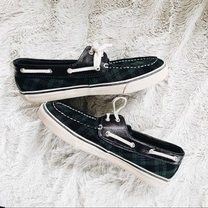 Sperry} Plaid Loafers